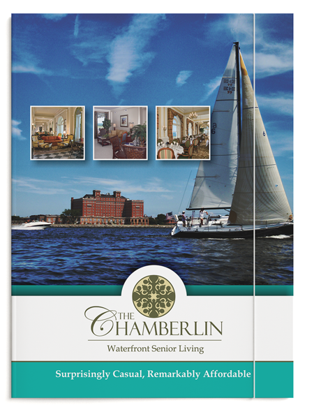 Graphic Design of Folder for The Chamberlin
