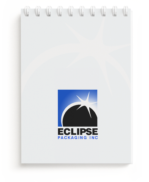 Logo Design for Eclipse Packaging Inc on a Notepad
