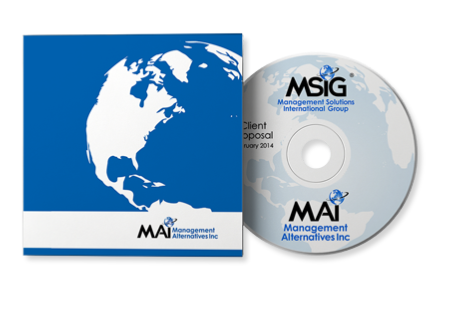 Graphic Design of CD and Case for Management Alternatives