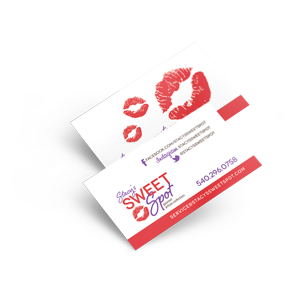 Business card design for Stacy's Sweet Spot by Ecstatic Design