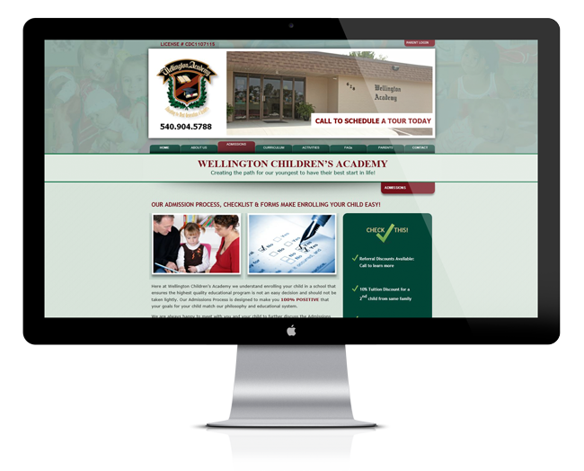 Web Design for Wellington Children's Academy